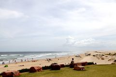 海滩视图@安娜海湾澳大利亚 图库摄影