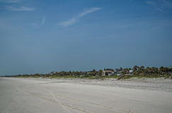 海滩视图 免版税库存照片