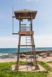 海滩警卫塔 库存照片