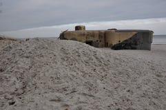 海滩设防波罗的海 库存图片