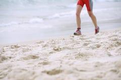 海滩赛跑者 免版税库存图片