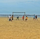 海滩足球在阿勒皮 库存图片