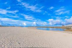 海滩足球海滩在冲绳岛 图库摄影