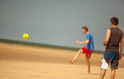 海滩足球 库存照片