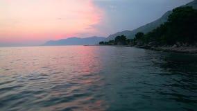 海滩达尔马提亚,克罗地亚 股票录像
