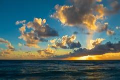 海滩迈阿密日出 免版税库存照片