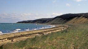 海滩-这里小山国家公园, NY 库存照片