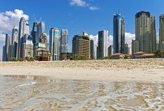 海滩迪拜jumeirah 阿拉伯酋长管辖区团结了 库存照片