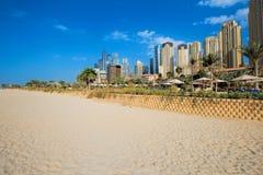 海滩迪拜jumeirah 免版税库存图片