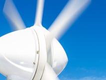 海洋造风机细节在小船的 库存图片