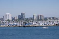 海滩都市风景 免版税图库摄影