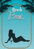 海滩酒吧蓝色(第1)页 库存照片