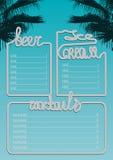 海滩酒吧蓝色(第2)页 库存图片
