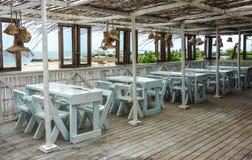 海滩酒吧视图在莫桑比克 免版税图库摄影