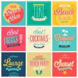 海滩酒吧集合 免版税库存图片