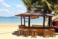 海滩酒吧 免版税图库摄影