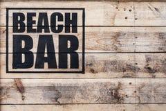 海滩酒吧 库存图片