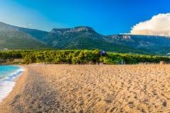 海滩金黄海角 库存图片
