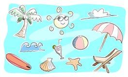 海滩题材乱画集合 库存图片