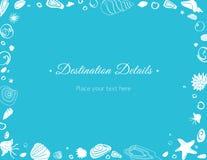 海洋题材方向卡片 免版税图库摄影