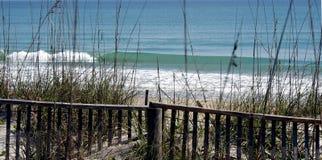 海滩风景佛罗里达 免版税库存图片