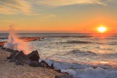 海滩风景哈特拉斯角北卡罗来纳 库存照片