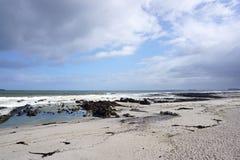 海滩风景在开普敦,南非 免版税库存照片