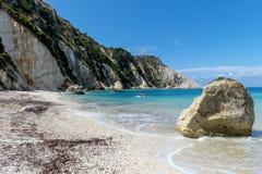 海滩风景在Kefalonia,希腊 库存照片