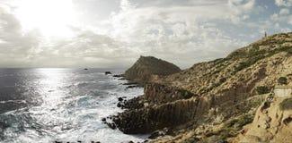 海洋风景,撒丁岛,意大利 免版税库存照片