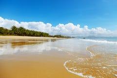 海滩风景 库存照片