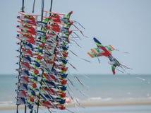 海滩风筝 免版税库存图片
