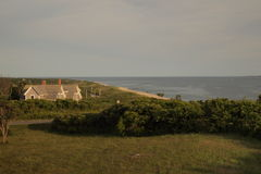 海滩风险感受产生慢的软的日落非常通知 免版税图库摄影
