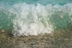 海洋飞溅 免版税库存照片