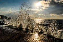 海水飞溅 免版税库存图片