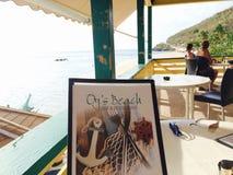 海滩餐馆海鲜 库存照片