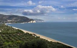 海滩马蒂纳塔- Gargano -普利亚 免版税库存图片