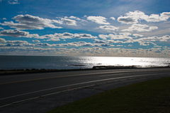 海洋驱动纽波特 免版税库存照片