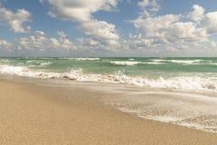 海滩,太平洋,佛罗里达 免版税库存图片