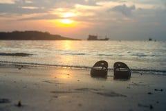 海滩,旅行,概念 免版税库存照片