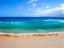 海洋,毛伊,夏威夷的波浪 库存图片