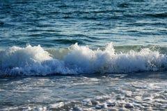 海滩,沙子,挥动 库存照片