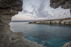 海洞,海角Greko 地中海,塞浦路斯 库存图片