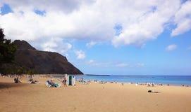 海滩, Canarian海岛 免版税图库摄影