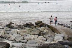 海滩, Lahinch,爱尔兰 免版税库存照片
