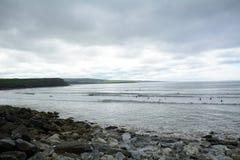 海滩, Lahinch,爱尔兰 免版税图库摄影