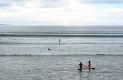 海滩, Lahinch,爱尔兰 库存图片