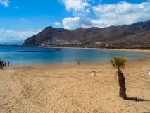 海滩, Las Teresitas 免版税图库摄影