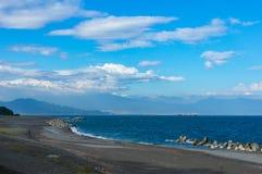 海滩, Shizouka,日本海岸线  免版税库存图片