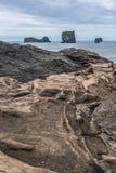 黑海滩 免版税库存图片