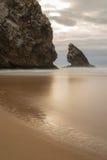 海滩Adraga 库存图片